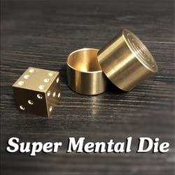 Super mental morrer (latão) truques de magia palco close-up magia dice número previsão magie metalismo acessórios prop