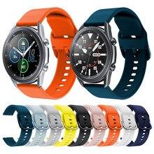 Pulseira de silicone macio para samsung galaxy watch3 41mm relógio inteligente pulseira esportiva para galaxy watch 3 45mm pulseira de pulso acessórios