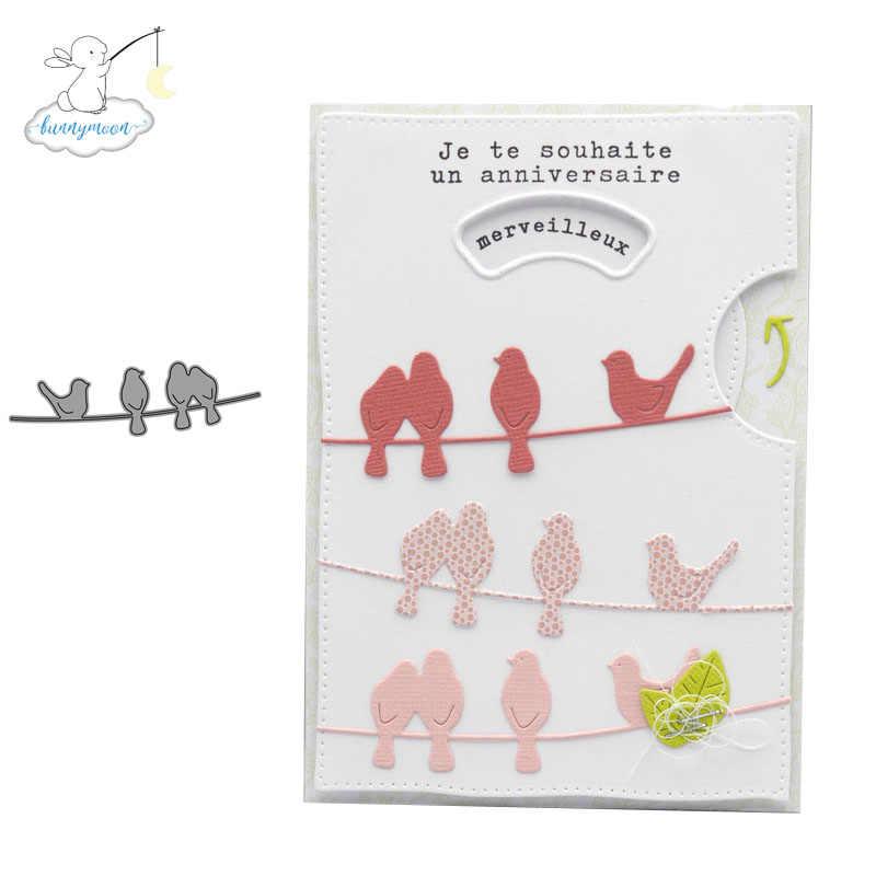 Ch 4 鳥金属切削ダイスステンシル/フォトアルバムスタンプ装飾エンボス diy カード