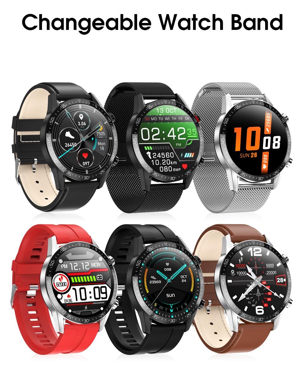 Ha89c2ff9c27a4ed697579f7ddcfcd361T IPbzhe Smart Watch Men Thermometer ECG Smart Watch IP68 Waterproof Blood Pressure Smartwatch Reloj Inteligente For Huawei Xiaomi