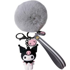 Новый милый мультфильм эпоксидный брелок творческие волосы шар кулон мультфильм пингвин брелок кукольная машина маленькие подарки