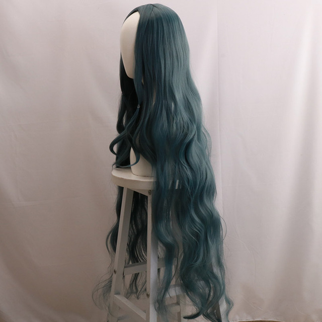 Costume Danganronpa V3Killing Harmony Shirogane Tsumugi Cosplay Wig 120cm Long Slightly Curly Hair Halloween Carnival