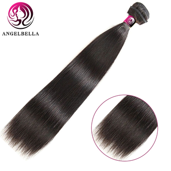 цены Angelbella Wholesale Price 1 Bundle Peruvian Hair Pure Human Remy Hair Natural Black Color Straight Human Hair For Black Beauty