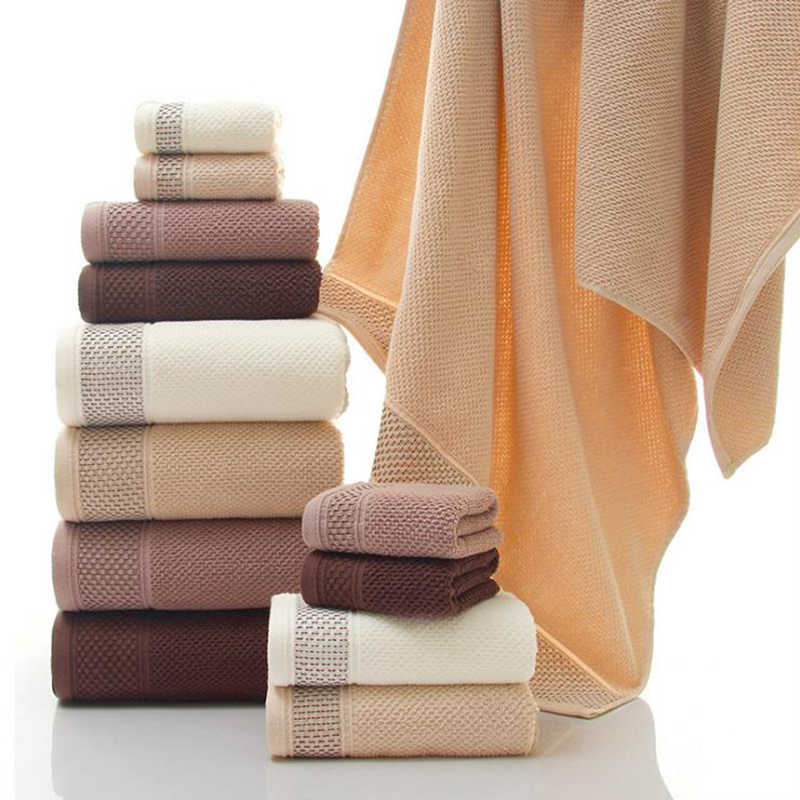 Hoogwaardige-100% katoenen Handdoeken 3Pcs Luxe Hotel & Spa Kwaliteit Bad handdoeken handdoek Super absorberende waterbestendig badhanddoek