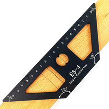 45 Degree Angle Ruler Woodworking Scribing Mark Line Gauge Aluminum Center Scribe Measuring Tools For Woodworking Operations 1pc 3d mitre angle measuring ruler scribe mark line gauge carpenter ruler square layout miter 45 and 90 degrees woodworking scribe