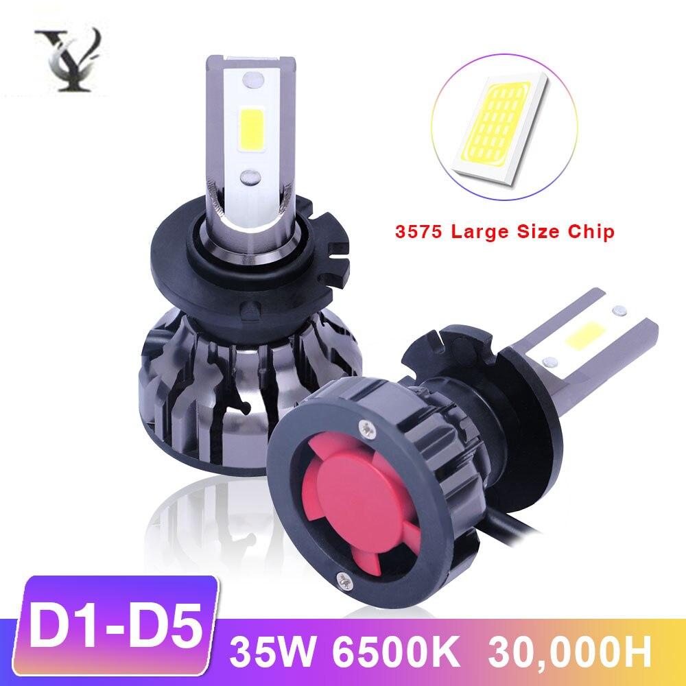 2 pièces Lumineux Superbe D1S D2S D2R D2C D3S D4S D5S ampoules de phares LED Kit Canbus Voiture Lampe XHP60 Puce 12v 6000K 6000LM Voiture
