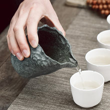 130ML Sharing Pot Pour Out Pitcher Heat-Resistant Stone Tea Cup Accessories Household Hand Rinse Tea Ceremony Tool New Year Gift
