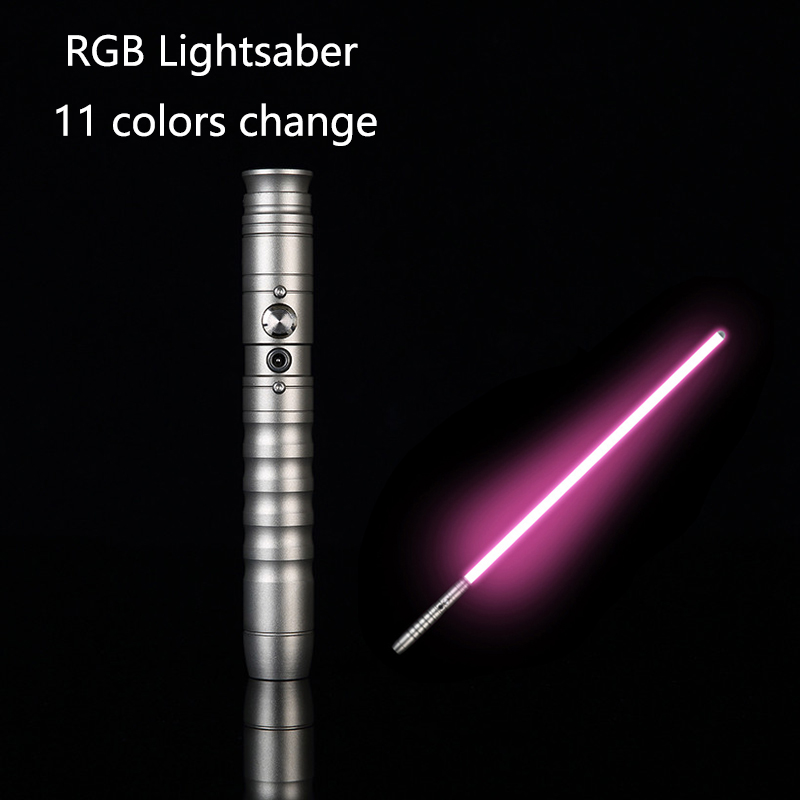 Star Wars Lightsaber Jedi FX Force Heavy Dueling Metal Handle Rechargeable RGB !