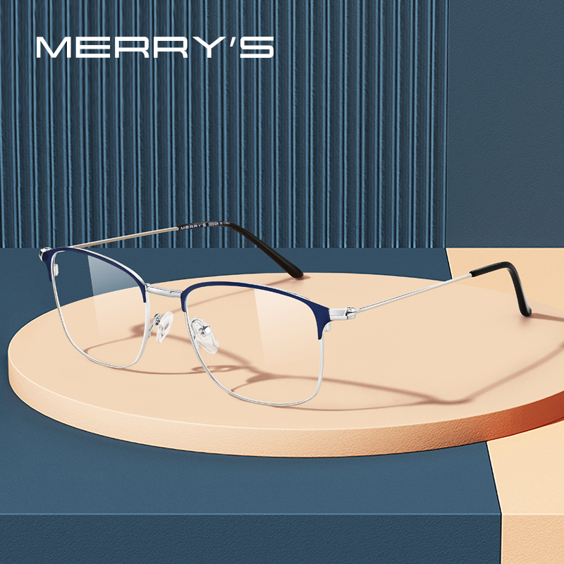 MERRYS DESIGN Women Vintage Alloy Glasses Frame Unisex Optical Ultralight Myopia Prescription Men Eyeglasses S2173
