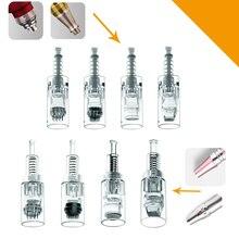 100 PCS Nano Elektrische Derma Stift Nadeln Bajonett Schraube 36 pin MYM Patrone Spitze Für Micro Roll Derma Stift Tattoo nadeln nadel