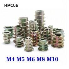 M8--20 Furniture-Nuts Wood-Insert-Nut Thread Hex-Drive-Head 10-50pcs Flanged for Zinc-Alloy