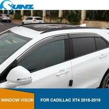 Voiture fenêtre Protection contre la pluie pour CADILLAC XT4 2018 2019 fenêtres côté soleil Protection contre la pluie bouclier voiture style SUNZ