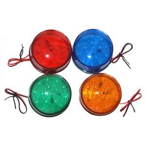 Luz LED de señal estroboscópica para coche, 12V, alarma de emergencia, linterna intermitente, alarma de seguridad, accesorios para el hogar
