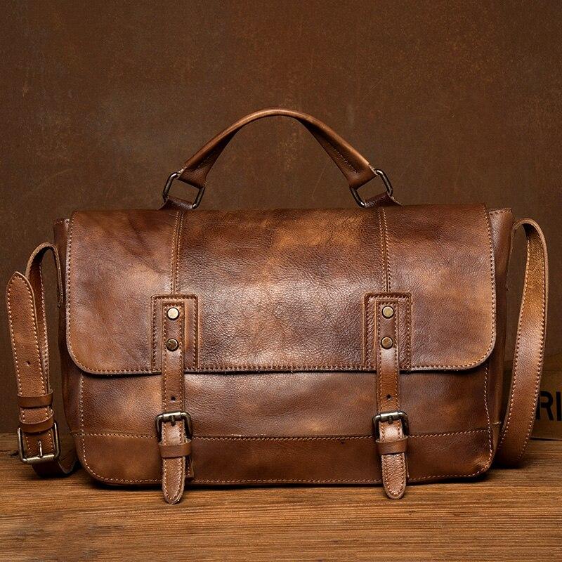 Men's Briefcase/Laptop Bag For Men Messenger/Office Bags Men Leather Business Bag Men's Genuine Leather Briefcase Handbag