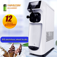 Commercial Ice Cream Machine 110v or 220v automatic cleaning soft serve ice cream maker