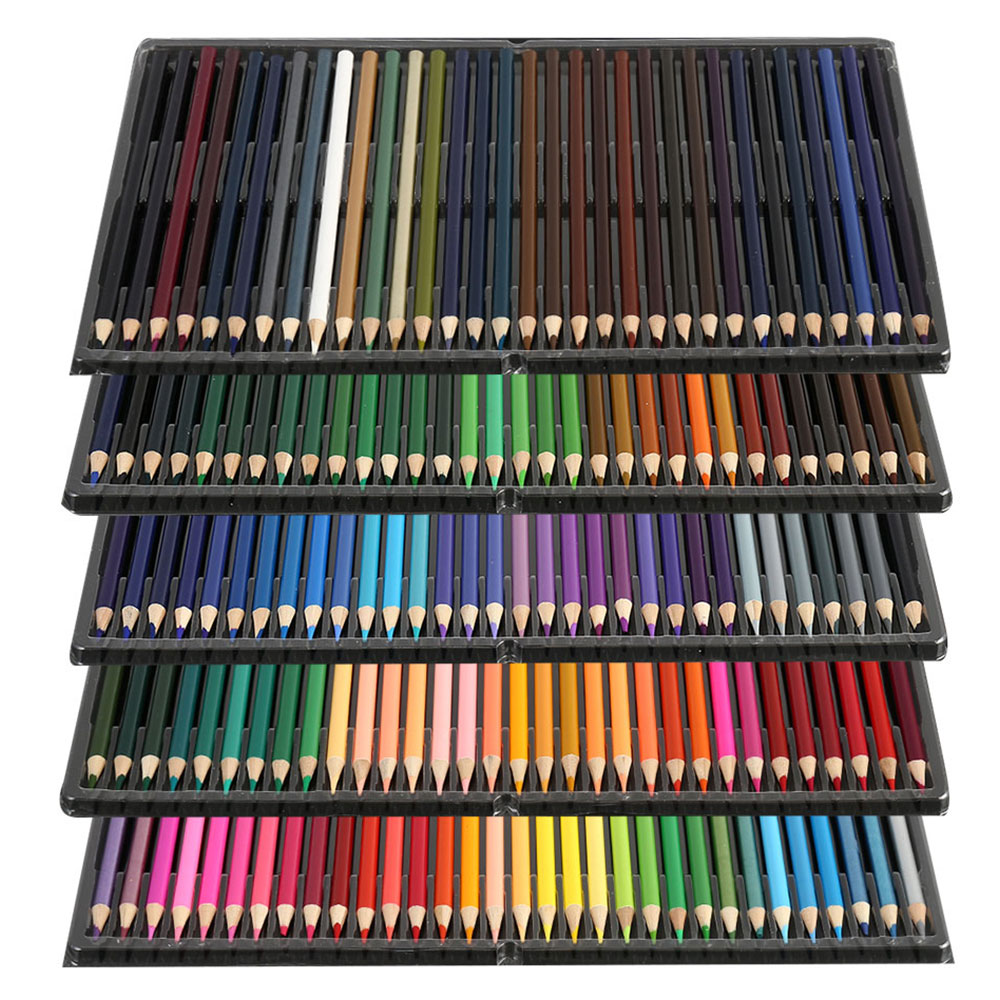 Professional 120/160 Colors Oil Color Pencils Set Artist Painting Sketching Wood Color Pencil School Art Supplies Draw Gift Kit