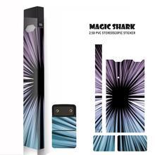 Magic Shark Original New Fashion Brand Stereo Film PVC Sticker Skin For Juul Electronic Cigarette Sticker original kamry xpod kit 0 8ml 1 4ohm ceramic core 280mah cartridge pod mod vs juul electronic cigarette