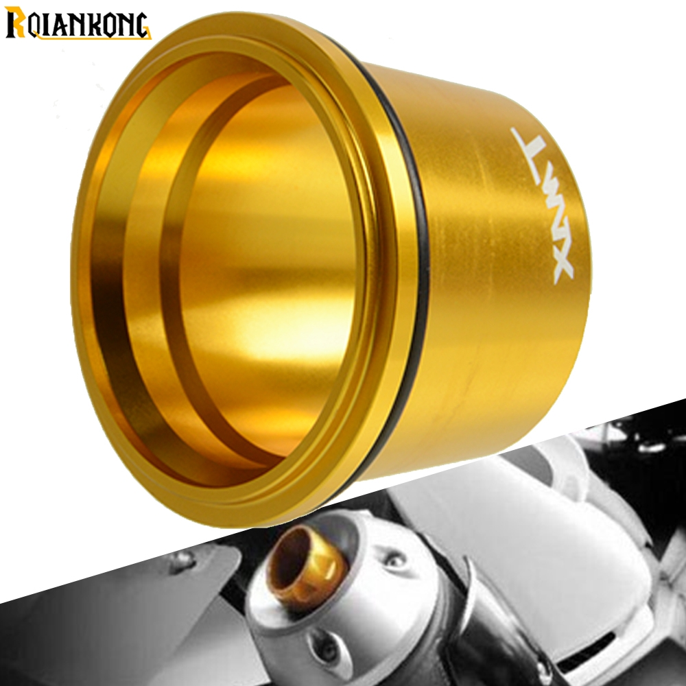 Motor Scooter TMAX560 Aluminum Exhaust Tip Cover For Yamaha <font><b>T</b></font> <font><b>MAX</b></font> <font><b>T</b></font>-<font><b>MAX</b></font> 500 560 <font><b>530</b></font> TMAX <font><b>530</b></font> 500 <font><b>T</b></font>-MAX530 2015 2016 <font><b>2017</b></font> 2018 image