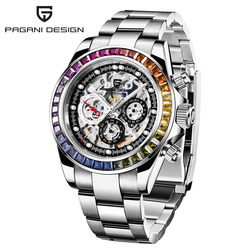 PAGANI Design Watch Men Skeleton Automatic Mechanical Watches Stainless Steel Waterproof Fashion Business Relogio Masculino