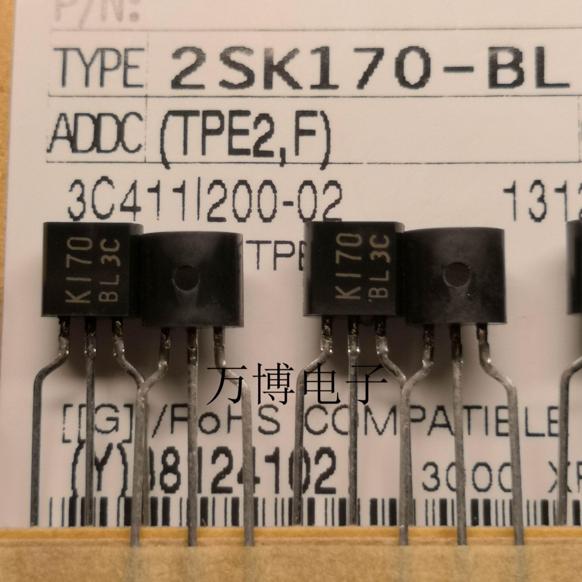 2pcs TOSHIBA 2SK170-BL TO-92 Transistor 2SK170 BL Audio Power Amplifier K170-BL K170