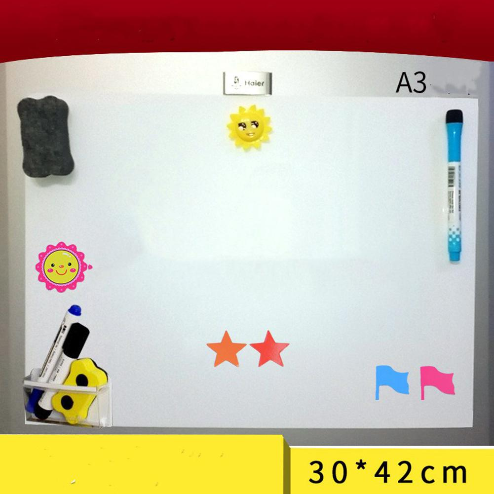 A3 Flexible Waterproof Children Drawing Magnetic Board Cooler Refrigerator Magnet Notepad