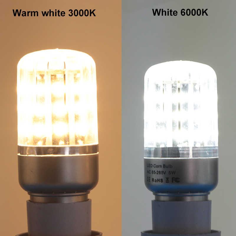 bombillas led corn bulb 5W E12 E 14 E27 Aluminum spotlight bulbs 86v to 265v high quality energy saving lamp 110v 220v lighting