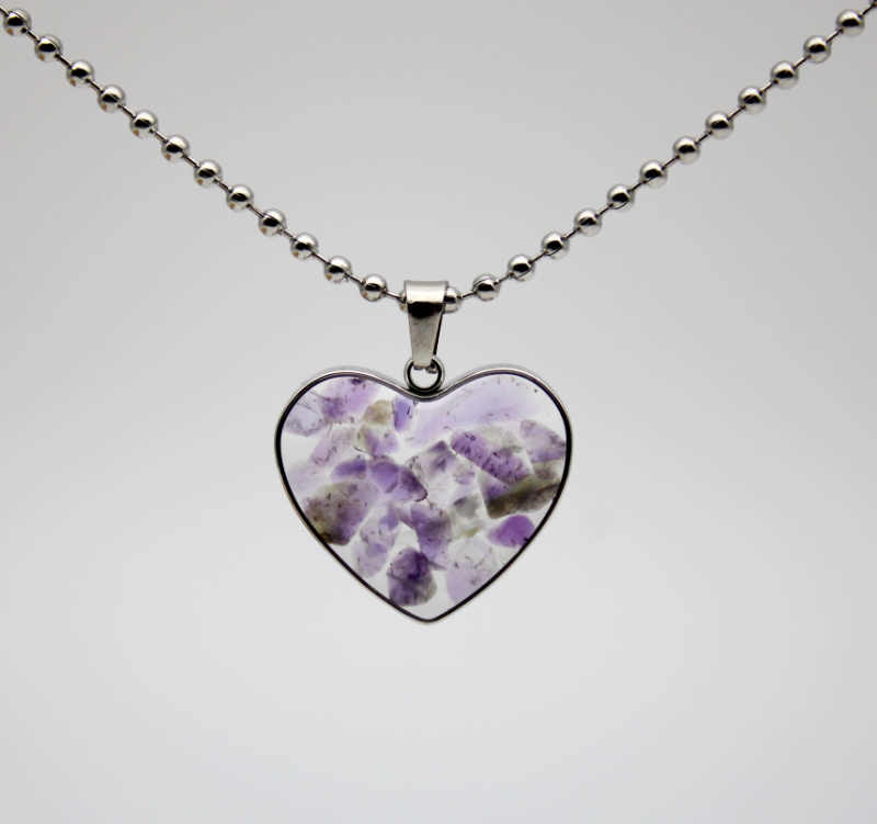 1 قطعة الحجر الطبيعي عين النمر الجمشت garnet اللازورد يدوية على شكل قلب السيدات المقاوم للصدأ قلادة قلادة 19*21 مللي متر