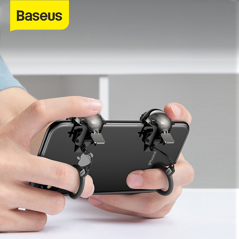 Baseus Mobile Phone Game Controller Shooter Controller Joystick Gamepad Trigger Level 3 Helmet  Gadget  For PUBG Game Phone Game