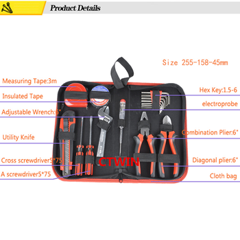 NEW18PCS Set Toolkit Oxford Bags Home Repair Mini Hand Tools Hardware Combination Suit Household and Useful Convenient Tools Set