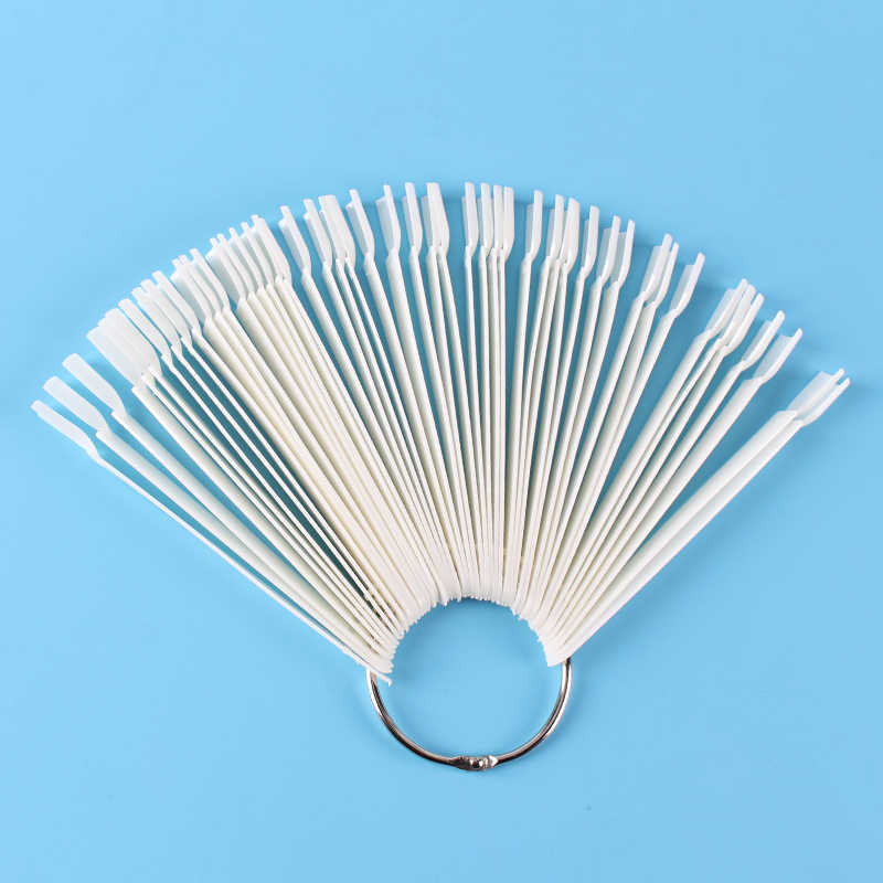 45 stks/set Valse Nagel Tips Natuur Kleur Fan Vinger Volledige Card Nail Art Display Practice Acryl UV Gel Polish Tool manicure