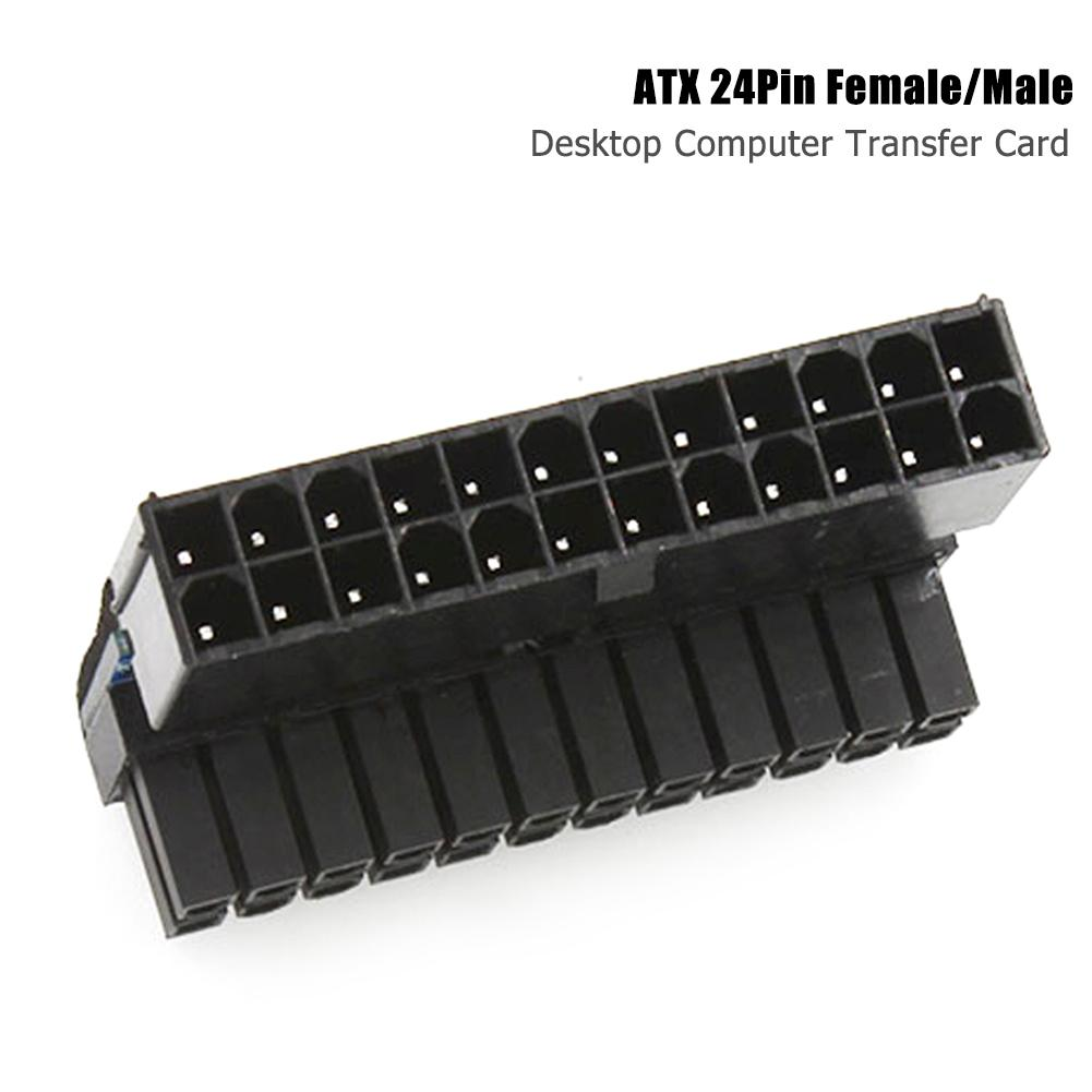 ATX 24Pin Female To 24Pin Male Desktop 24Pin Motherboard 90 Degree Power Adapter  With Sufficient Durability And Ruggedness