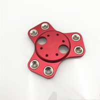 Funssor K800 aluminum dual V6 magnetic effector carriage red Anodized For DIY Reprap Delta Rostock Kossel k800 3d printer