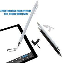 1 pz 2 in 1 penna Touch Screen a doppia testa stilo sottile capacitivo universale per iPhone iPad Tablet PC PC