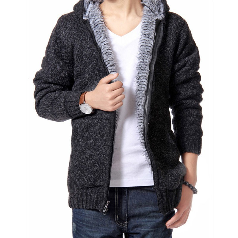 Autumnmn Winter Cotton Cardigan Zipper Soft Perfect Quality Solid Slim Fit Long Sleeve Coat Knitted Casual Wool Men Sweaters