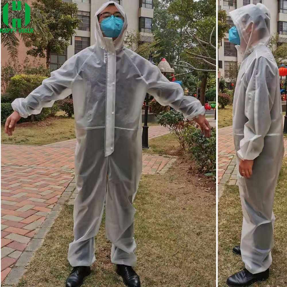 Non-Disposable Anti-epidemic Antibacterial EVA Protection Set Isolation Suit Dust-proof Coverall Prevention Antiviral Waterproof