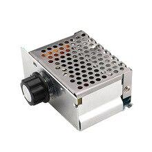Профессиональный 4000 Вт 220 В высокомощные регуляторы напряжения SCR регулятор скорости Электронный регулятор напряжения регулятор термостата HR