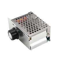 Professional 4000W 220V High Power Voltage Regulators SCR Speed Controller Electronic Voltage Regulator Governor Thermostat HR