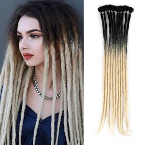 Mtmei Hair Handmade Dreadlocks Hair Extensions Reggae Hair Hip-Hop Style Faux Locs Crochet Hair 1 Strands/7g/Pack Crochet Braids