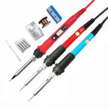 60W/80W Electric digital soldering iron station 220V 110V temperature adjustable welding soldering tips tools accessories