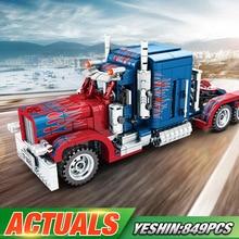 Yeshin 701803 Technic игрушечные машинки Peterbilt, тяжелый контейнер, автомобиль, модель автомобиля, детские рождественские игрушки, строительные блоки, кирпичи