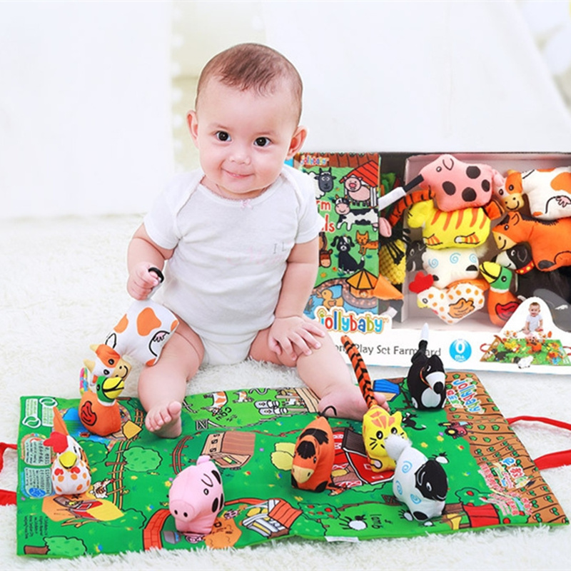 Baby Toys 0 12 Months Baby Toddler Moblies Activity Play Mat Rattles Cloth Books For Babies Infant Educational Toys Hobbies
