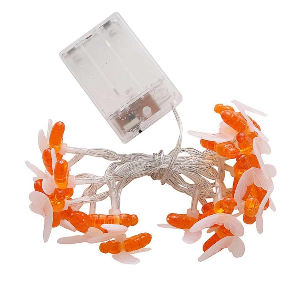 Bee String Lichter 10/20 LEDs Outdoor-Batterie Power LED Wasserdichte Saiten Garten Terrasse Zaun Pavillon Sommer Nacht Licht P5