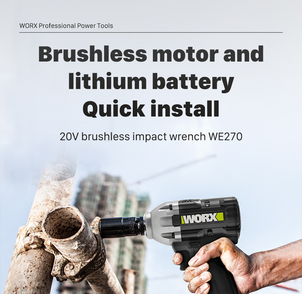 WORX 20V brushless impact Wrench WE270