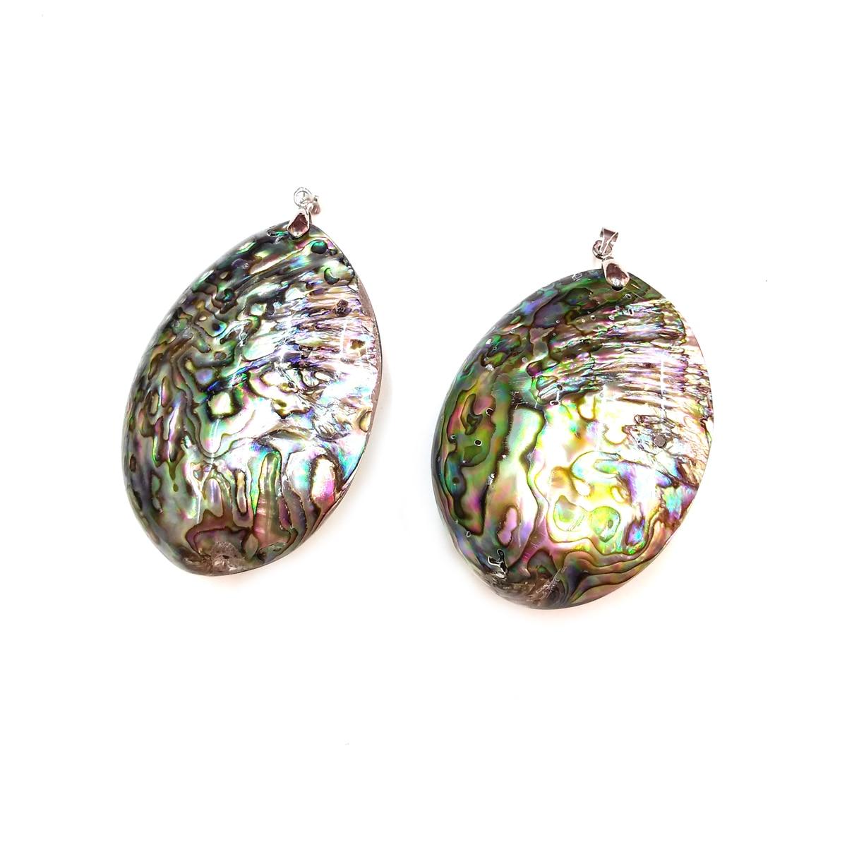 Pendentifs en coquillage pendentif de collier pour la fabrication de bijoux accessoires de bricolage pour colliers taille 45x70mm