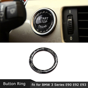 Carbon Fiber Engine Start Stop Button Trim Ring Frame Car Accessories For BMW 3 Series E90 E92 E93 E89 Z4 2009-2012 image