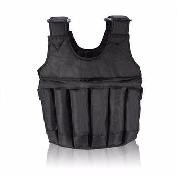 Nowo regulowana kamizelka ważona Fitness 20kg 50kg ćwiczenia treningowe kurtka do ćwiczeń siłownia trening bokserski kamizelka sprzęt do ćwiczeń tanie i dobre opinie Swokii oddychająca Dobrze pasuje do rozmiaru wybierz swój normalny rozmiar