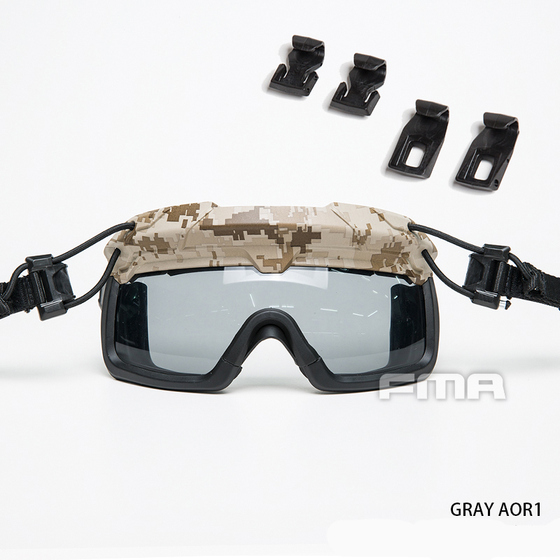 FMA Safety Goggles For Tactical Helmet Protective Glasses Anti Fog Dust Paintball 1333