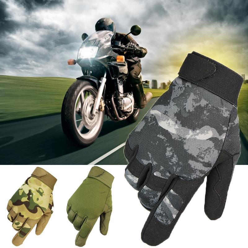 Motorcycle Gloves Winter Warm Men Full Finger Motocross Gloves for Outdoor Racing Riding Sports with Protective Gear Camouflage