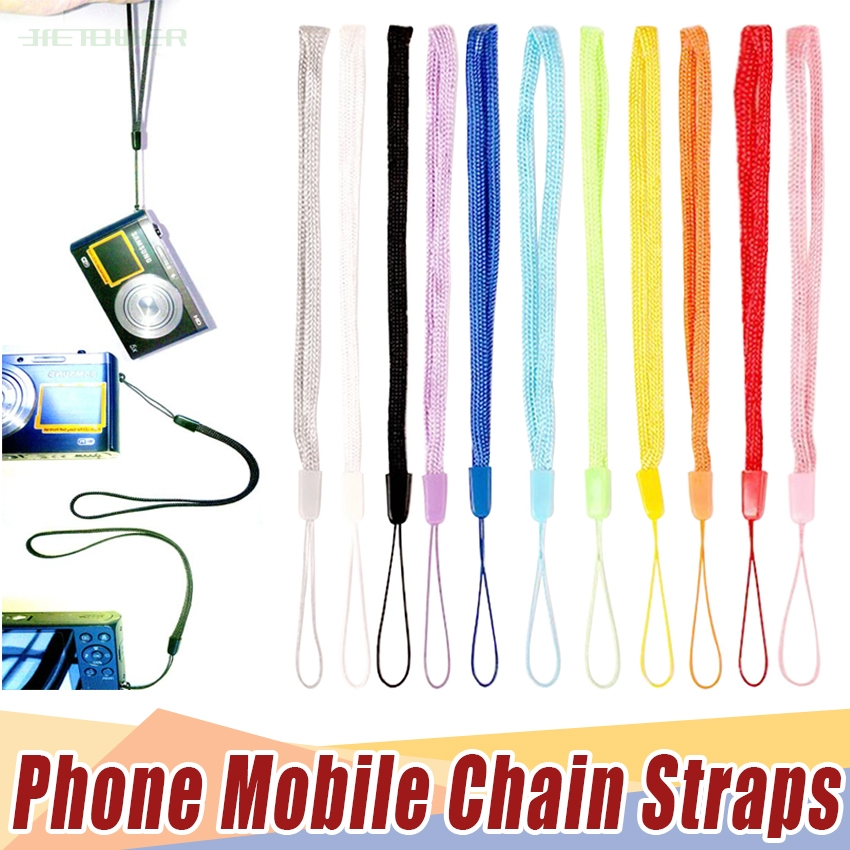 2000pcs/lot Mobile Phone Strap Solid Cute Lanyard Neck Strap For Keys ID Card S For USB Badge Holder DIY Hang Rope Random Color