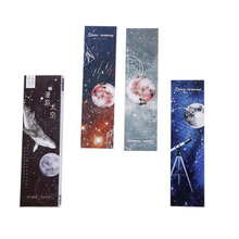 6packs/lot Message Card Creative Galaxy Roaming Space Bookmark School Supplies Stationery Student